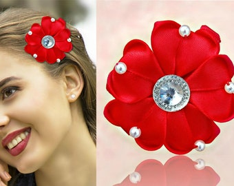Brooch Hairpin use Rose Smiling sunflower Rose Hairpin Flamenco Dancer pin Flower Brooch