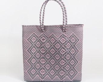 ab20bc83e91 Mexican Plastic Woven Handmade Tote BTM2-0005