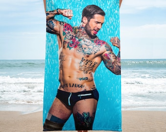 "Alex Gets Wet"" Beach Towel"