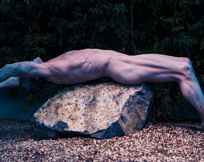 Immersed - 20x40 Nude Male Photograph