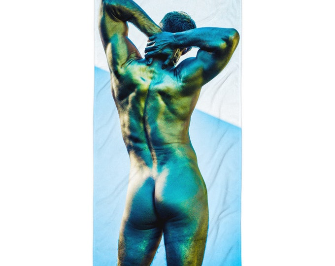 Man's Back Sexy Fun Beach Towel