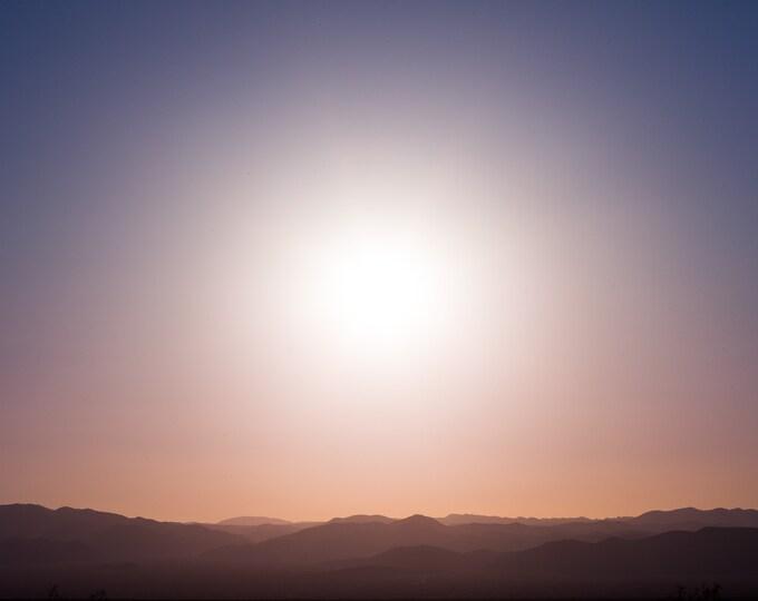 Pinto Basin Near Sunset