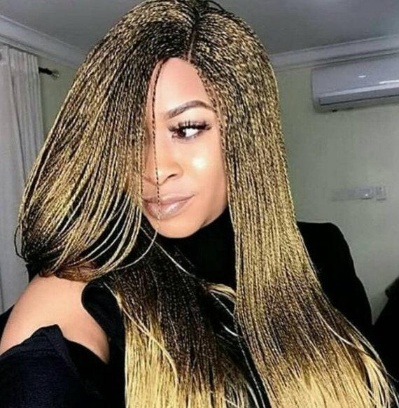 Awe Inspiring Braided Wigs Lace Front Braids Wig Senegalese Twist Micro Etsy Schematic Wiring Diagrams Amerangerunnerswayorg