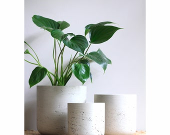 STONE (Light Grey) Lightweight Plant Pot - Available in 3 sizes