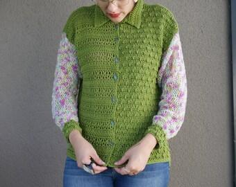 Vintage Echo Crochet Cardigan // PDF pattern // Crochet pattern