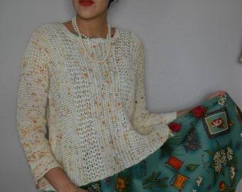 Eat Cake Crochet Sweater // PDF Pattern //
