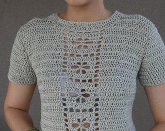 Flower Child Crochet Top