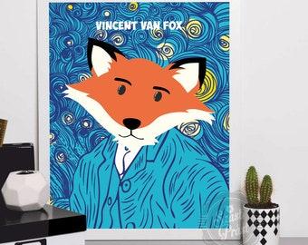 Poster Vincent Van Fox A3