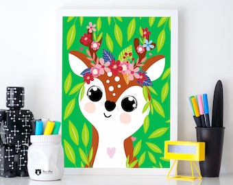 Poster Cute Deer A3 / 30x40