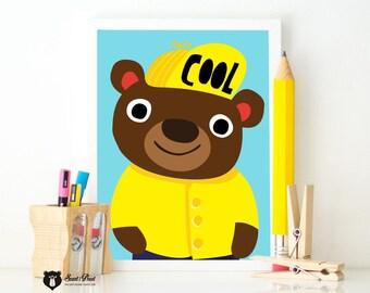 Poster Cool Bear A3