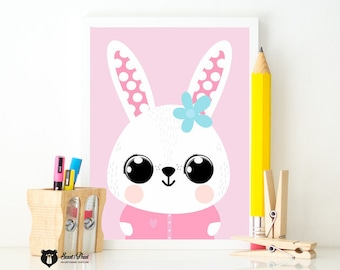 Poster Lucy the rabbit A3