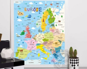 Poster Map of Europe A3 / 30x40