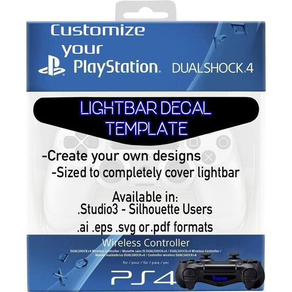 playstation 4 lightbar decal template vector vinyl cutter etsy
