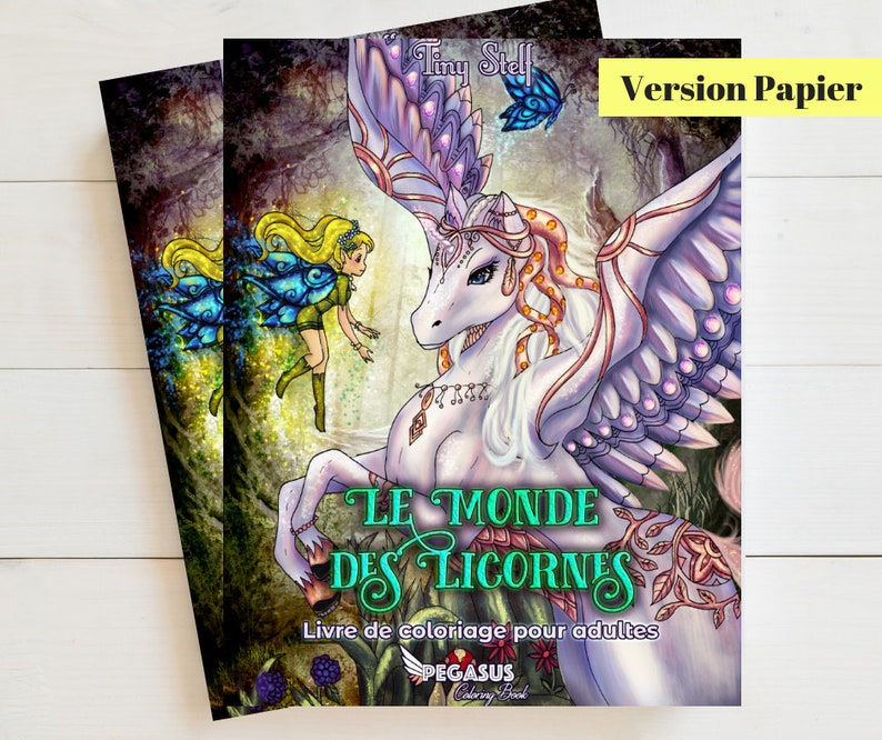 Adult Coloring Book The World of Unicorns  Paper image 0