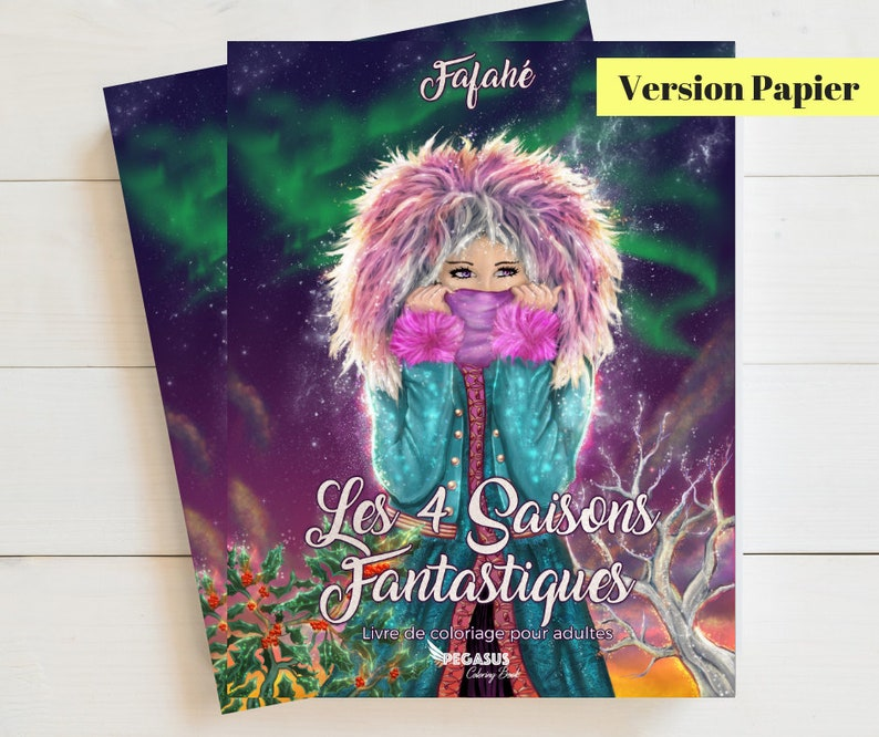 Coloring Book: The 4 Fantastic Seasons English version Paper image 0
