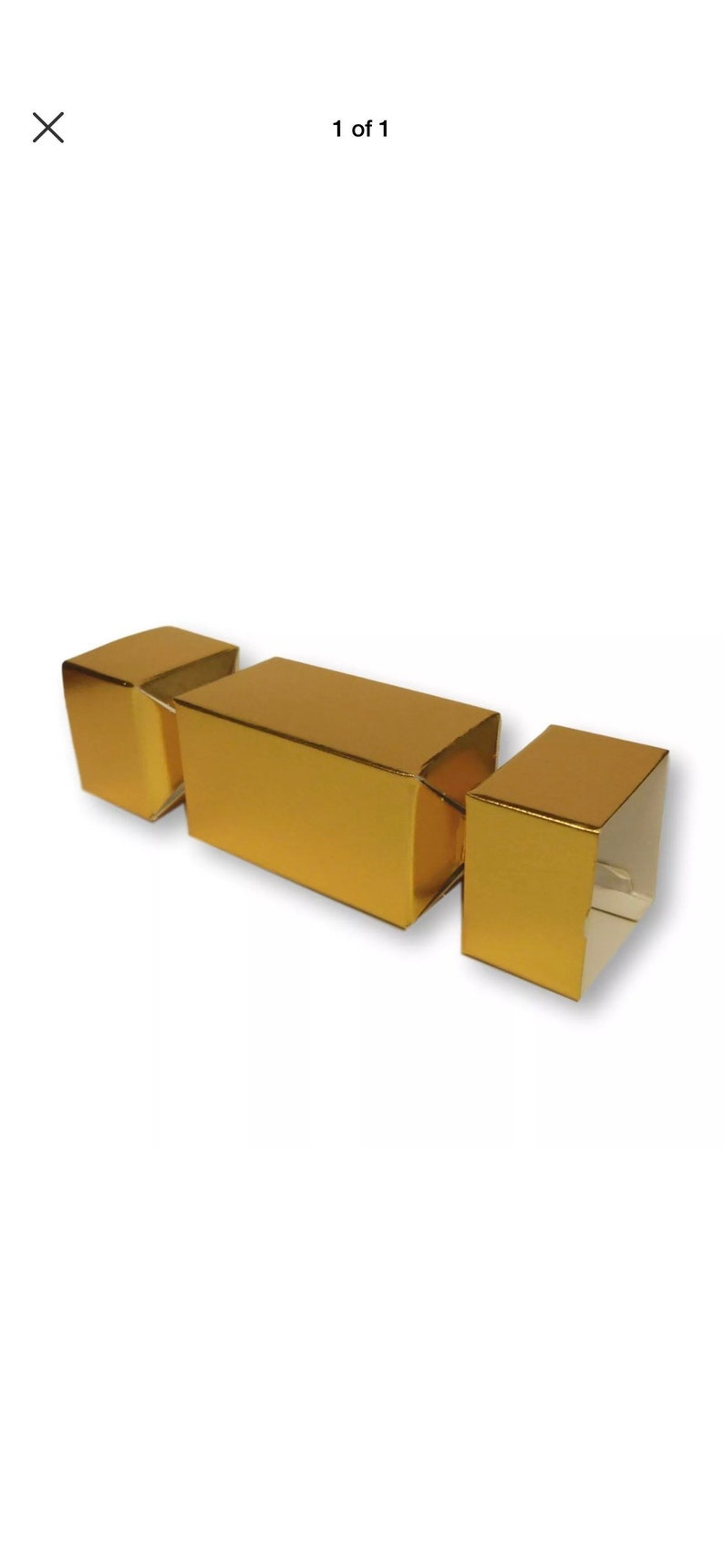 Pack Of 10 Small Gold Cracker Gift Boxes Christmas Crackers Chocolates Sweets Cakes Gifts