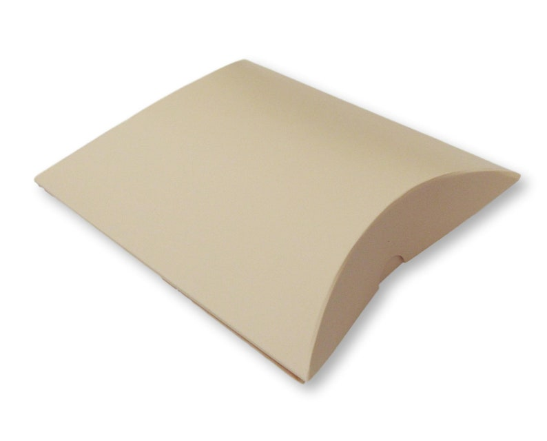 Pack of 10 Medium White Pillow Pouches Boxes Gift Box image 0