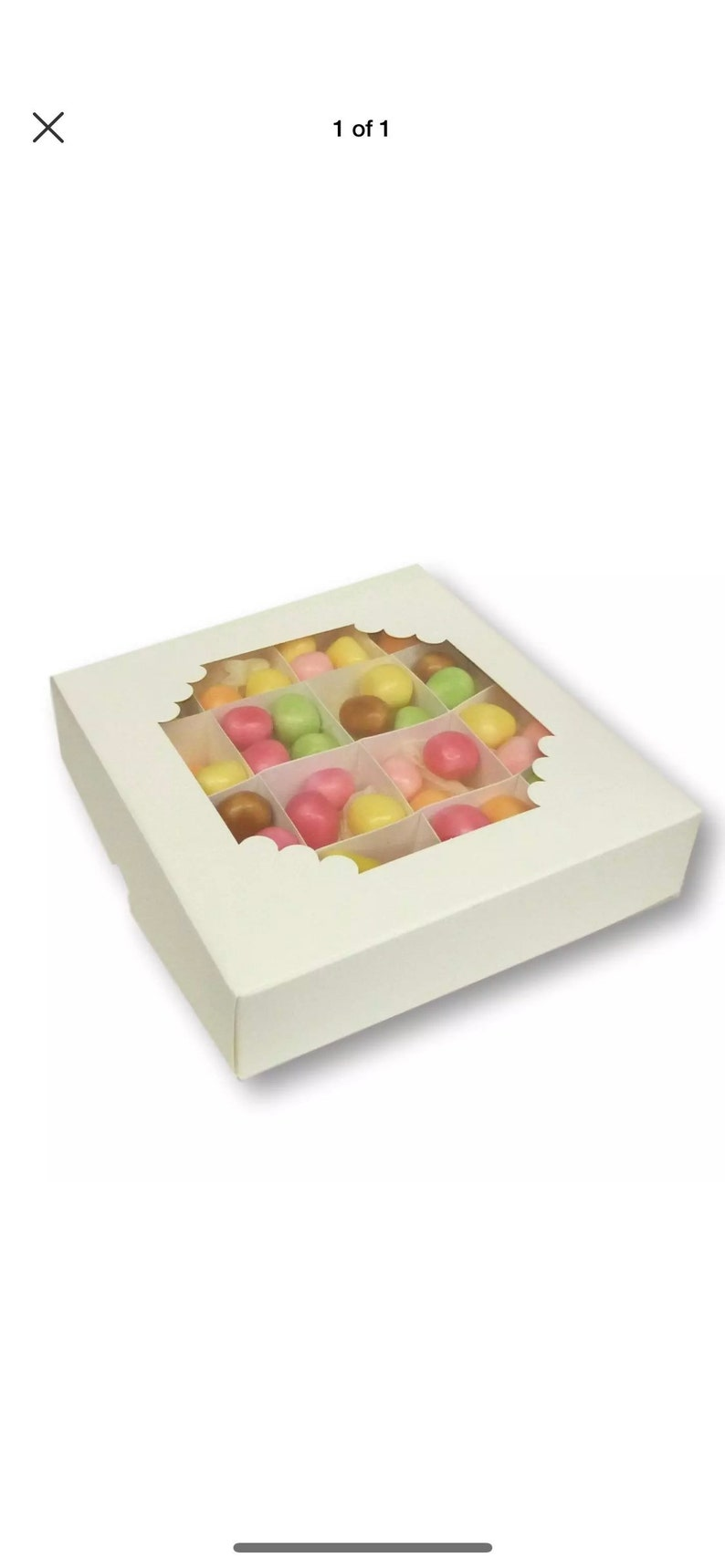 Jewellery Display Boxes Sweet Boxes Pack of 10 6 x 6 White Chocolate Gift Boxes Cakes,