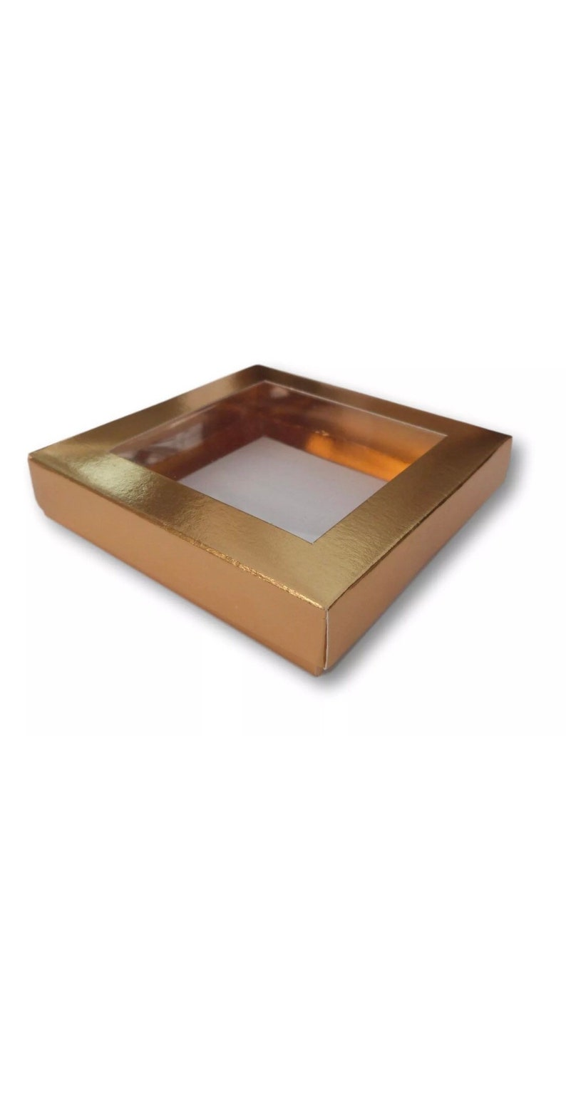 magnets coasters Pack of 55 4 x 4 White Gold Kraft Brown Silver Gift Boxes With Window Jewellery Cakes Gifts