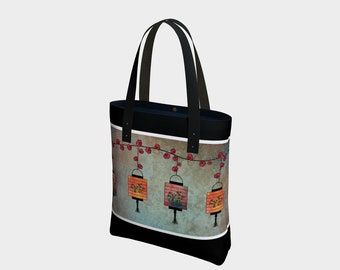 Asian lanterns tote bag c59518919b81f