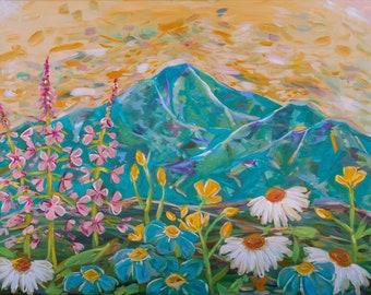Alaskan Wildflower Mountains