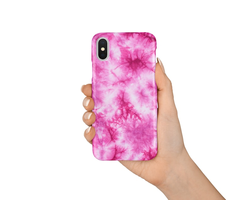 brand new a47b1 6c02a Pink Tie Dye iPhone X Case, iPhone 8 Case, iPhone 7 Case, Hippy iPhone  Case, Tie Dye Phone Cases, Colourful iPhone Cases, Summer Phone Cases