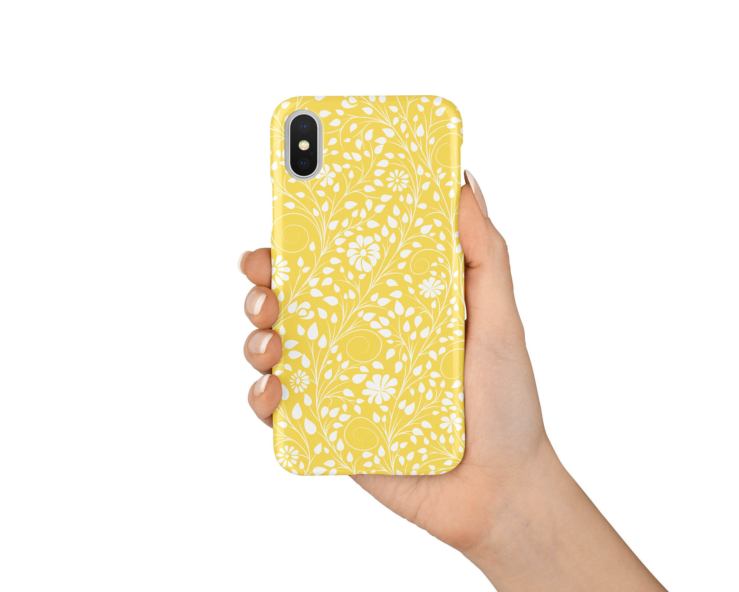 new style 01201 7d688 Yellow Floral iPhone Case, iPhone X Case, iPhone 8 Case, iPhone 8 Plus  Case, iPhone 7 Case, iPhone 7 Plus Case, iPhone 6S Case, Gift Idea