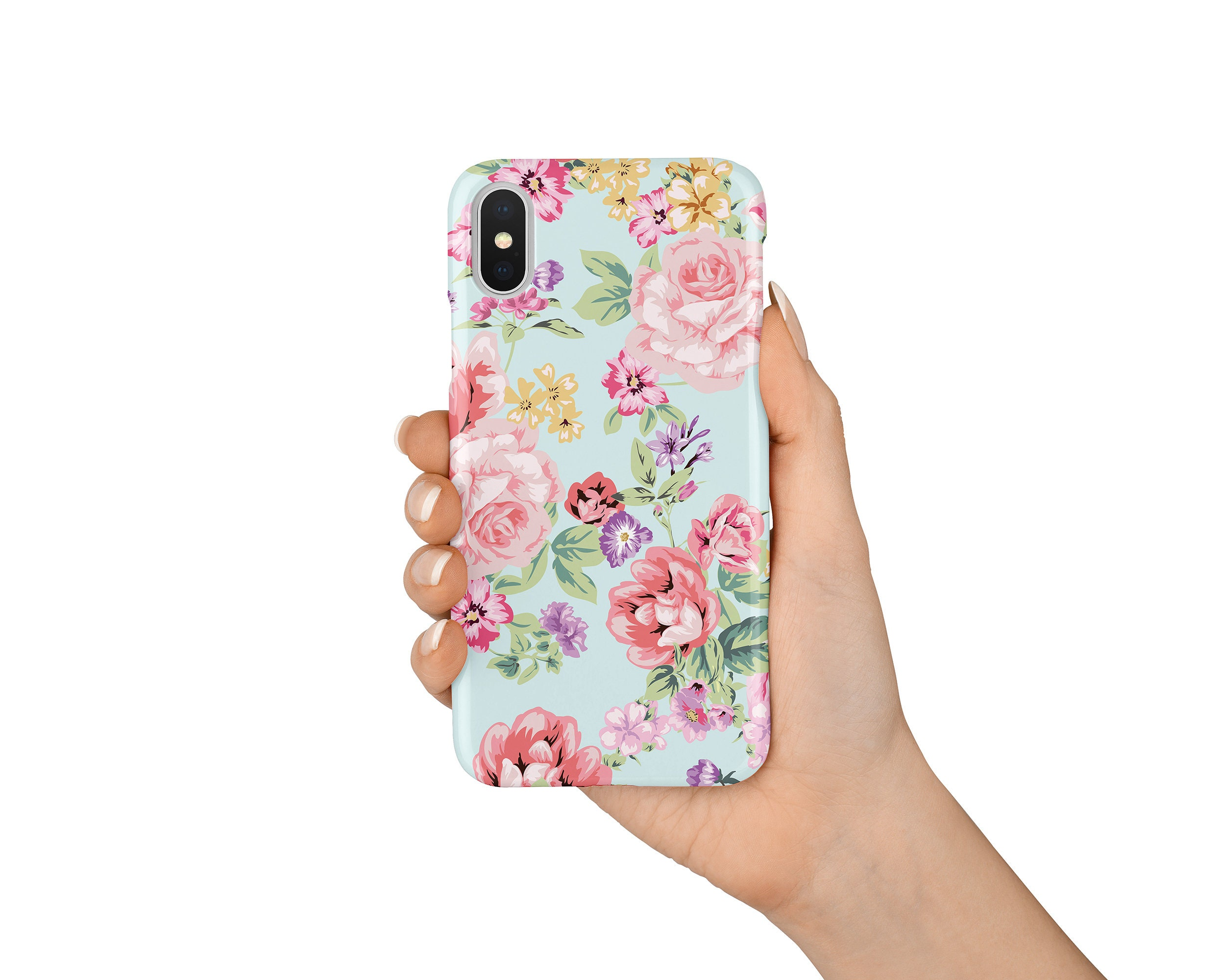 Floral Iphone X Case Iphone 8 Case Iphone 7 Case Iphone 8 Etsy