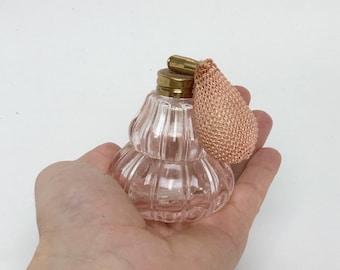 Pink Antique Perfume bottle, light pink vintage 80's Retro perfume bottle lot, Refillable Perfume Atomizer Long Spray Bottle Bathroom decor