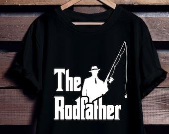 a6dd95247 The Rodfather Shirt - Fishing T Shirt - Fisherman Shirt - Funny Fishing  Shirt - Fishing Gifts - Vintage Fishing T Shirt - Funny Fathers Day
