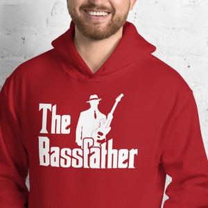 The Bassfather Funny Gift for Bass Guitarist T Shirt Bass Player Gift