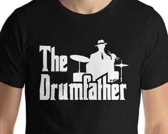 8056b6da The Drumfather Shirt - Drummer T-Shirt - Drums Tshirt - Ganster Shirt -  Drum T Shirt - Gift for Dad - Music Shirt - Funny Fathers Day Musici