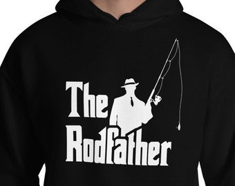 ab390f184 The Rodfather Hoodie - Fishing Pullover - Fisherman Shirt - Funny Fishing  Shirt - Fishing Gifts - Vintage Fishing - Funny Fathers Day Hoode