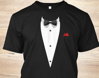 3e45291b0 Tuxedo T Shirt with Bowtie For Weddings - Kids Tuxedo Shirt - Funny Wedding  Shirt - Tuxedo T Shirt - Bowtie Tshirt - Outfit Shirt - Tie Gift