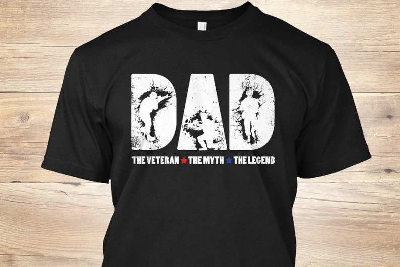 d8c430c4 Dad The Veteran The Myth The Legend TShirt Veteran T Shirt | Etsy