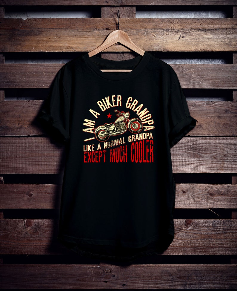 44a6ca77 I Am A Biker Grandpa T-Shirt Grandpa Biker Shirt Vintage | Etsy