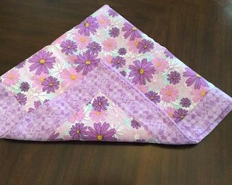 Shades of purple receiving blanket