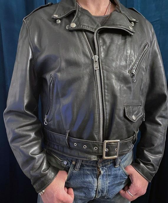 Vintage Schott Perfecto leather motorcycle jacket