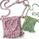 Bobble Pom Pom Heart Bag by Melu Crochet Adult/Child modern cotton bag bobble stitch/pompom Easy chart, photo tutorial full written pattern