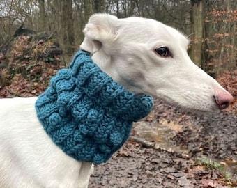 Doggy Bobble Snood pattern by Melu Crochet dog scarf, pet neck warmer