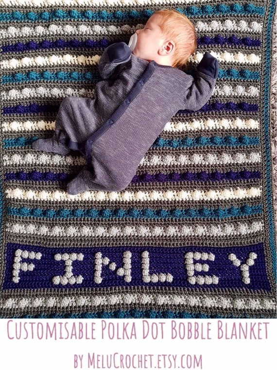 Customisable Baby Blanket Create Your Own Bobble Stitch Etsy