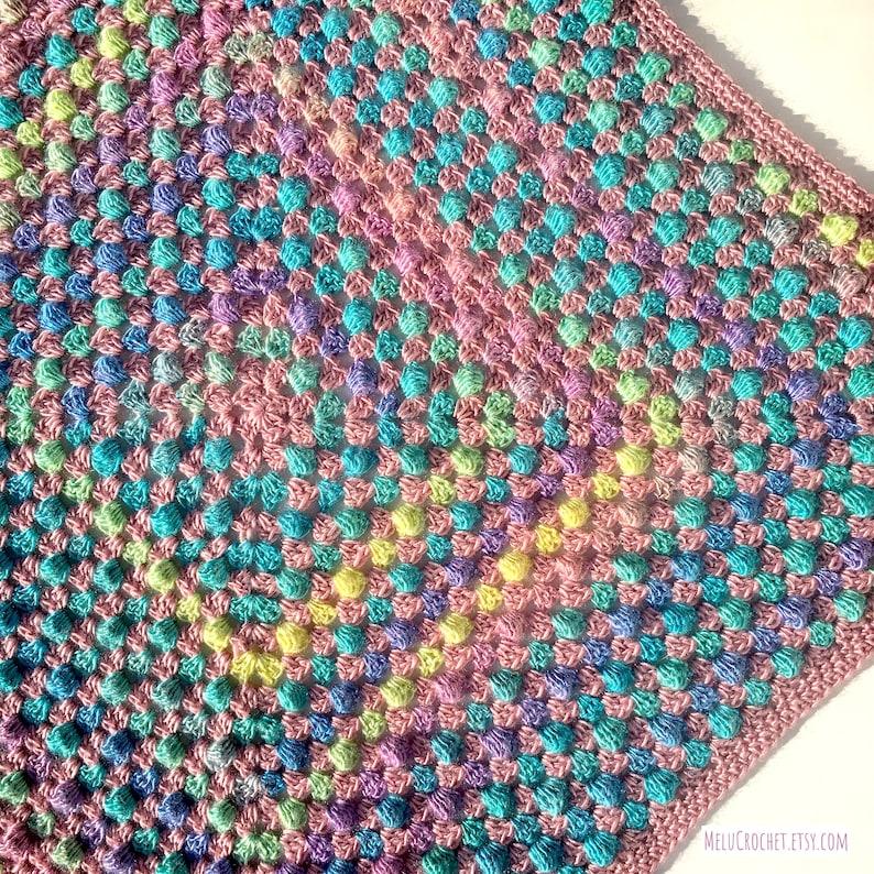 Modern Granny Bobble Square Blanket pattern by Melu Crochet image 0