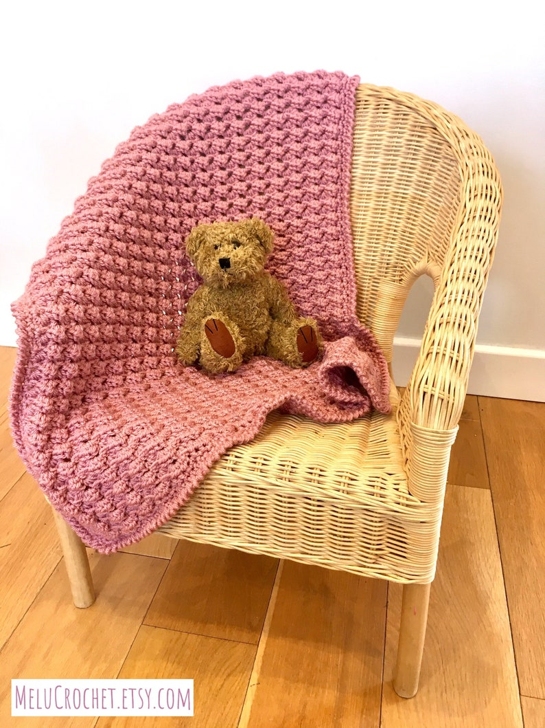 Mindfulness Blanket Melu Crochet Easy and Quick Modern pattern image 0
