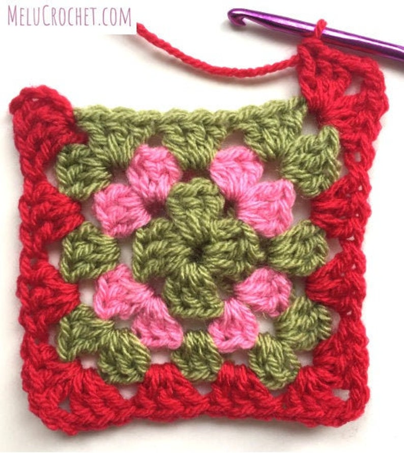 Perfect Granny Square Blanket with bobble stitch edging by image 0