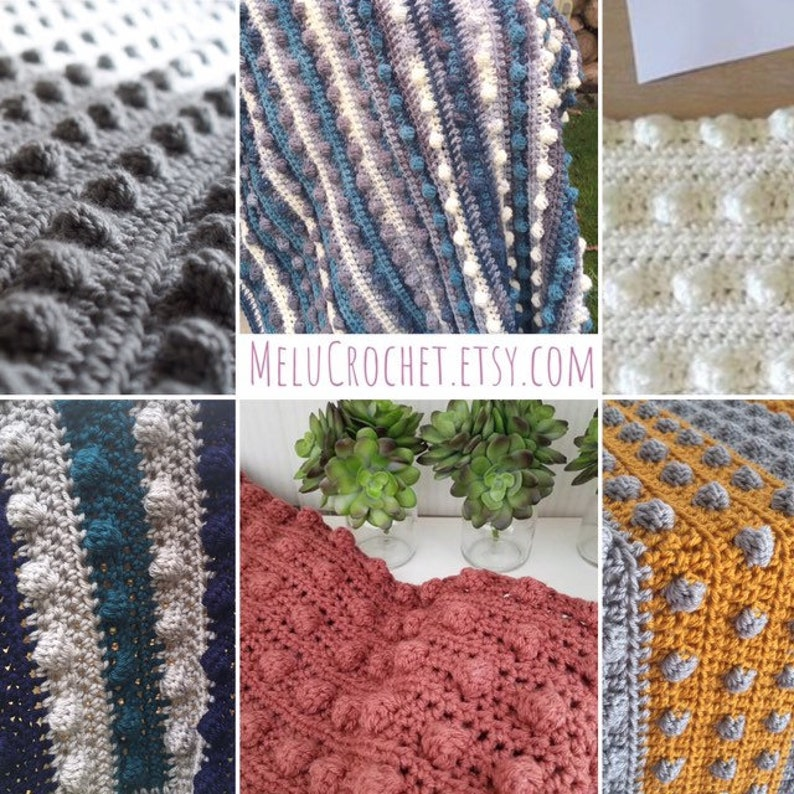 UK Easy and Quick Modern Bobble Blanket pattern by Melu image 0
