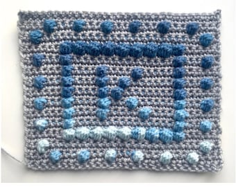 A-Z Bobble Stitch Personalised Squares by Melu Crochet  - Create your own alphabet bobble stitch squares