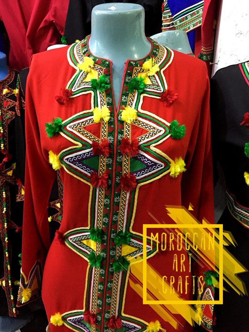 26f958afe50201 Moroccan Red dress berber kaftan traditional dress elegant