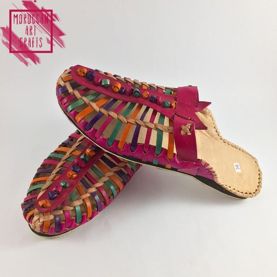 outdoor slippers on Comfort african relax shoes slippers indoor handmade summer colorful slides slippers slip style leather flats PgaPqx