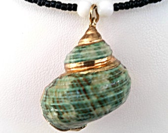 Shell Choker Necklace/beach necklace/ shell necklace/ ocean theme