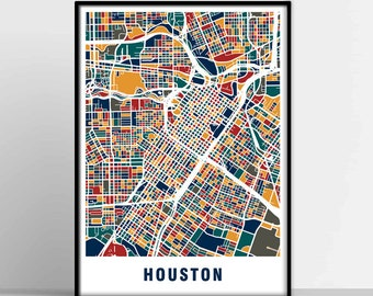 photo regarding Houston Map Printable named Houston map Etsy